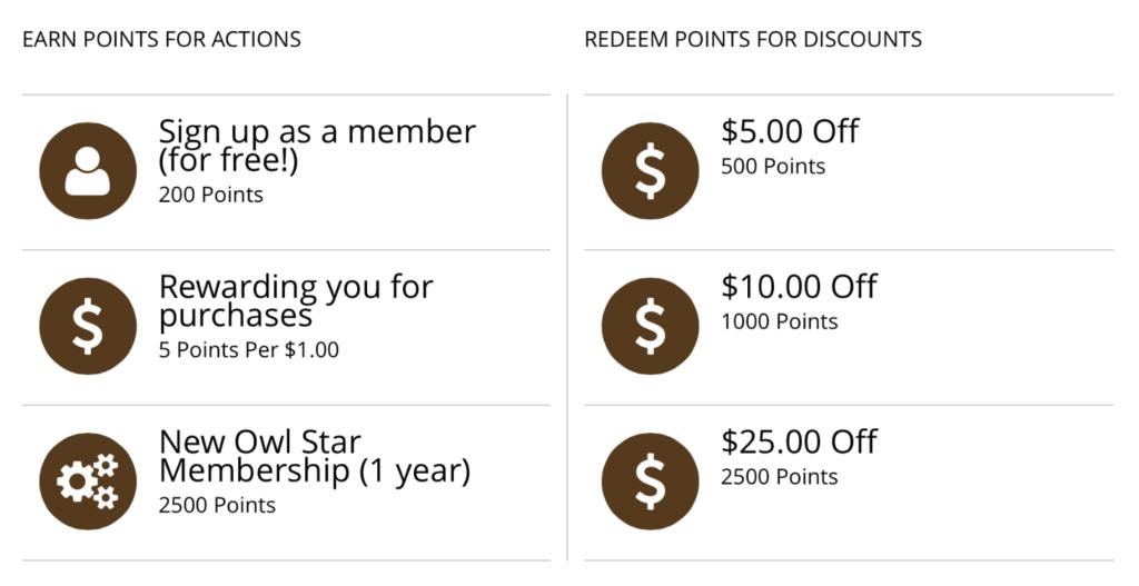 Owl Rewards System